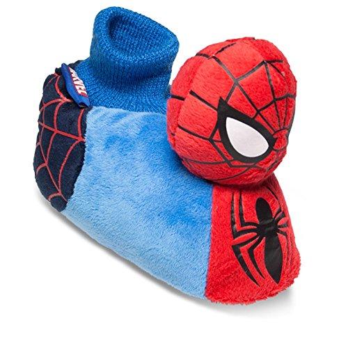 Sams Animaux Chaussons Disney Spiderman bleu Chausson drôle humoristique chaud, spiderbl