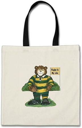 goshens algodón presupuesto Tote Bolsas Bulk jugador de rugby personalizable presupuesto Totes Rugby Liga presupuesto Totes Bolsas Blanco/ Negro Talla Única: Amazon.es: Hogar
