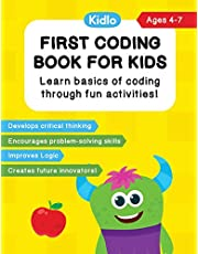 First Coding Book For Kids: Coding Games and Worksheets to Teach Little Kids (4-7 Years) How to Code