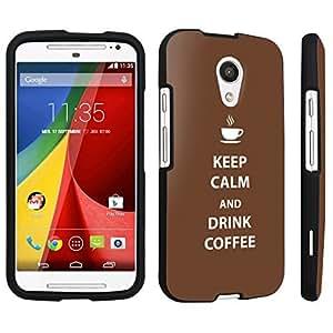DuroCase ? Motorola Moto G 2nd Gen. 2014 Hard Case Black - (Keep Calm Drink Coffee)
