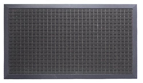 oversize-doormat-shoe-scraper-easy-clean-soft-texture-raised-squares-design-black