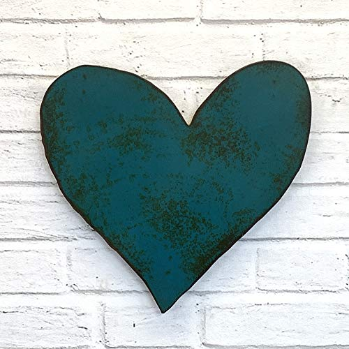 Heart Symbol - Metal Wall Art Home Decor - Homemade - Choose your Patina Color with Rust - Choose 6.5