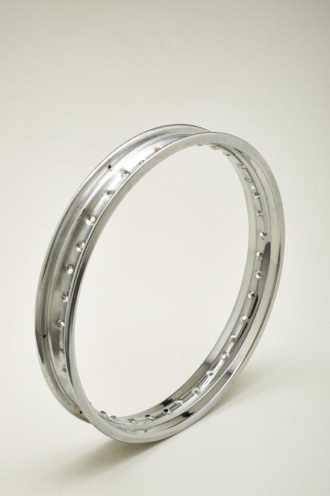 con 36/agujeros Llanta de acero cromado 1,60/x 19/pulgadas