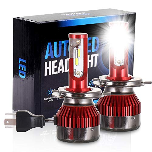 ECCPP 9003/H4 LED Headlight Bulb Hi/Lo Beam White Headlamp Conversion Kit - 80W 6000K 9600Lm - 5 Year Warranty(Pack of 2) ()
