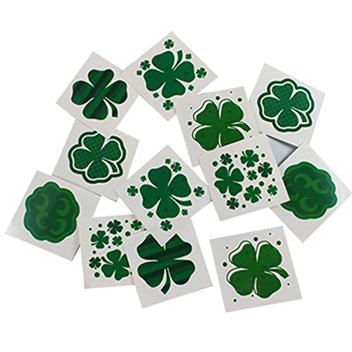 Joyin-Toy-32-Pieces-St-Patricks-Day-Accessory-Set-Party-Favors-with-St-Patrick-Shamrock-Fedora-Hat-Beads-Necklace-Mustaches-Sequin-Bow-Light-up-Glasses-Temporary-Tattoos-and-Rubber-Bracelets