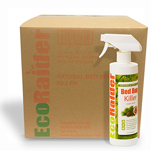 Bed Bug Killer Spray By Ecoraider, Case 16 Oz X16, All-natural & Non-toxic, Fast Kill & Long (Dead Bed Bugs)