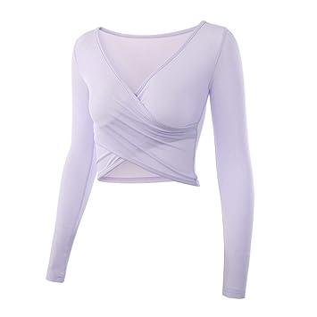 SBL Camisetas de Yoga para Mujer Tops de Manga Corta con ...