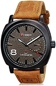 Curren Casual Watch For Men Analog Leather - 8139