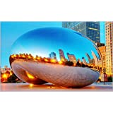 Millennium-Park-Chicago tourism scenery features creative tourism souvenirs Magnetic fridge magnet