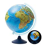 "Best Illuminated Globes - EXERZ 12"" / 13"" /32cm Illuminated Relief Globe Review"