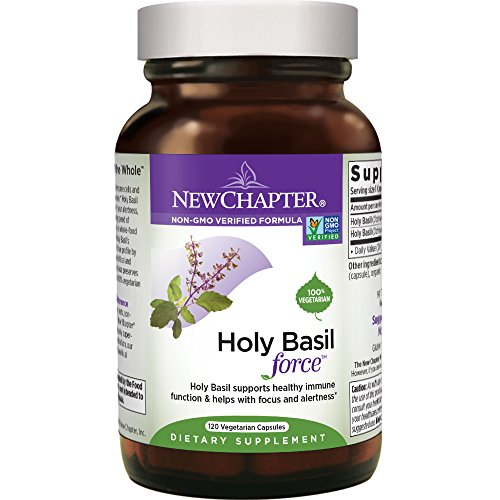 New Chapter Stress Relief Supplement - Holy Basil Force with Supercritical Holy Basil for Stress Support + Immune Support + Non-GMO Ingredients - 120 ct Vegetarian Capsules ()