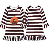 Nanalove Baby Girls Thanksgiving Day Outfits Long