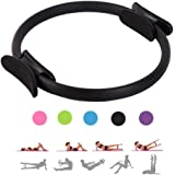 MEABEN 15 Inch Pilates Rings Yoga Pilates Magic Circle Pilates Ultra Fit Exercise Resistance Fitness Toning Ring Workout Fitness Circles with Dual Grip Handles for Home Gym Use