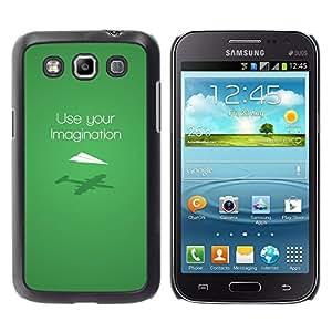 Paccase / SLIM PC / Aliminium Casa Carcasa Funda Case Cover para - Use Imagination Green Modern Design - Samsung Galaxy Win I8550 I8552 Grand Quattro
