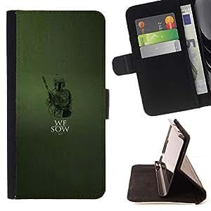 Momo Phone Case / Flip Funda de Cuero Case Cover - Nosotros no siembran - Fett - HTC DESIRE 816