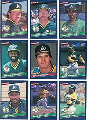 Oakland Athleticscomplete 1986 Donruss Baseball Team Set