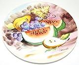 Vintage Ucagco Fruit Bowl Scene Decorative Collectible 8 5/8