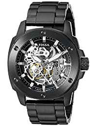 Fossil Men's ME3080 Modern Machine Automatic Stainless Steel Watch,  Black