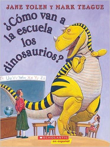 ¿Cómo van a la escuela los dinosaurios?