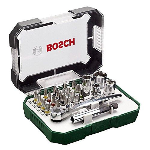 Price comparison product image Bosch Screwdriver Bit and Ratchet Set Hand Tool Kit - 26 Pieces