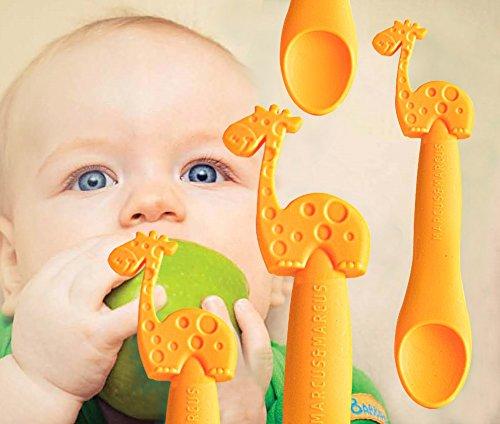Marcus & Marcus LOLA THE GIRAFFE Silicone Baby Feeding Spoon 11022