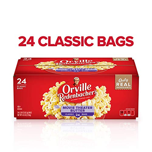 Halloween Popcorn White Chocolate (Orville Redenbacher's Movie Theater Butter Microwave Popcorn, 3.29 Ounce Classic Bag,)