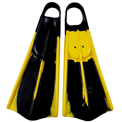 (Voit UDT Swimfins - Black/Yellow - L)
