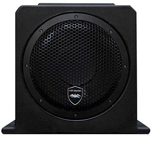 Wet Sounds Amplified 10″ subwoofer in Fiberglass Box.