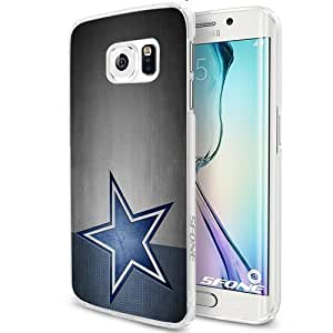 Football Dallas Cowboys Smartphone Samsung Galaxy S6 Case Cover Collector White Hard Cases by runtopwell