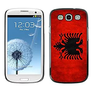 YOYO Slim PC / Aluminium Case Cover Armor Shell Portection //Albania Grunge Flag //Samsung Galaxy S3