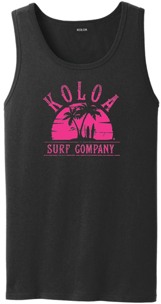 Joe's USA SHIRT メンズ B0737FXG5Y 4L,Black With Pink Surfboards at Sunset Logo