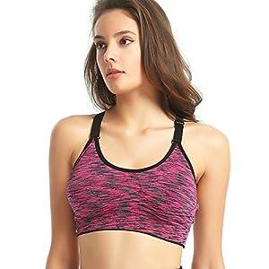 Capricia O'dare Women's Seamless Wirefree Racerback Adjustable Straps Yoga Sports Bra