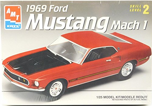 1969 Ford Mustang Mach I AMT 1:25 Scale Model Kit