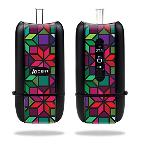 Skin For DaVinci Ascent Vaporizer (2014) – Stained Glass Window | MightySkins Protective, Durable, and Unique Vinyl Decal wrap cover | Easy To Apply, Remove, and Change Styles | Made - 2014 Glasses Style In