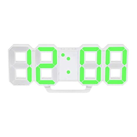Heaviesk Reloj de Pared LED Reloj Digital de Gran tamaño Único Vintage Decoración del hogar Reloj