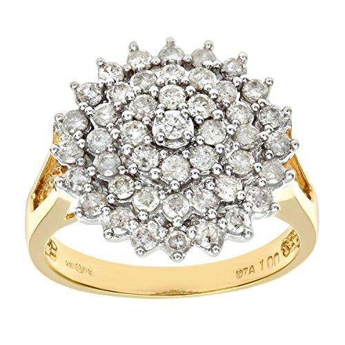 Bague Femme - Or jaune (18 carats) 6 Gr - Diamant 1 Cts