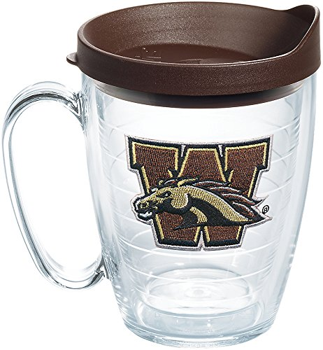 Tervis 1258845 Western Michigan Broncos Primary Logo Insulated Tumbler with Emblem and Brown Lid 16oz Mug ()
