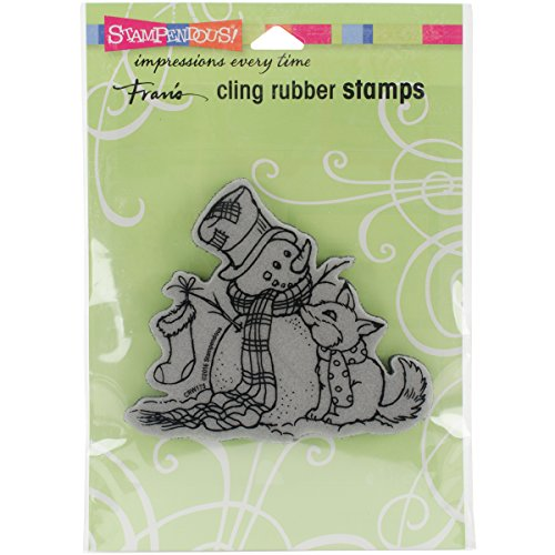 Stampendous CRW175 Cling Rubber Stamp, Fox Friend