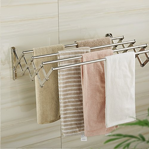 MHRITA Bathroom Bathroom Stainless Steel Telescopic Folding - Where to buy bathroom hardware