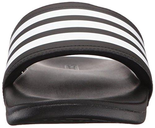 Adidas Menns Adilette Jf + Lysbilde Sandal Sort / Hvit / Svart
