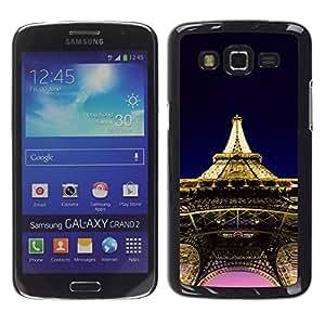Be Good Phone Accessory // Dura Cáscara cubierta Protectora Caso Carcasa Funda de Protección para Samsung Galaxy Grand 2 SM-G7102 SM-G7105 // Architecture Eiffel Tower Paris