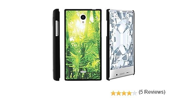 Sharp Aquos Crystal teléfono móvil, Slim carcasa rígida fijación a presión funda con Custom imágenes para Sharp Aquos cristal 306 SH (Sprint, Boost Mobile, Virgin Mobile) desde MINITURTLE | incluye protector de