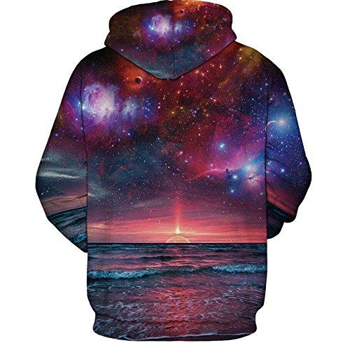 Unisex 3d Printed Drawstring Pockets Pullover Hoodie Hooded Sweatshirt