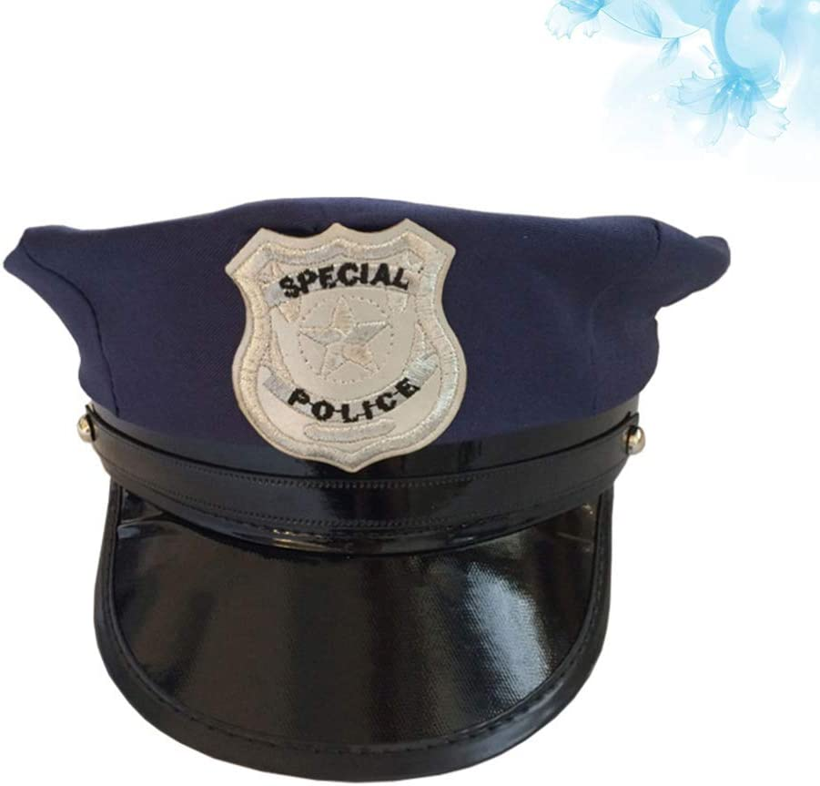 Toyvian - Gorra de policía para cosplay (azul): Amazon.es: Hogar