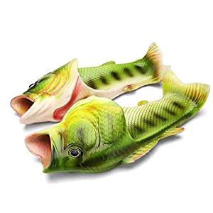 Fish slippers Beach Shoes Pool Non-slip Sandals Creative Hand painted Fish Slippers Men and Women Casual Shoe
