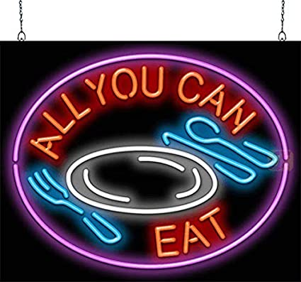 All You Can Eat Neon Sign - - Amazon com