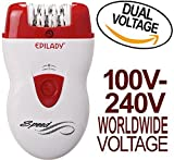 Cheap Epilady Speed Corded Epilator EP-810-44 with Dual Voltage 100-240V Power Supply Adapter & International Two-Prong Round Pin Plug Adapter (Bundle)