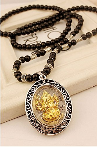 Generic Erotic new retro Korean Thai amulets pendants elephant god men and women long pendant necklace chain sweater by Generic