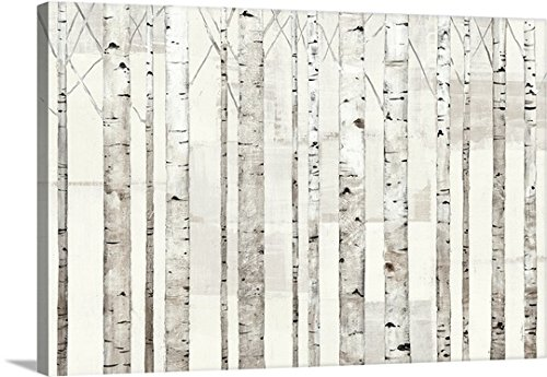 Avery Tillmon Premium Thick-Wrap Canvas Wall Art Print entitled Birch Trees on White 24