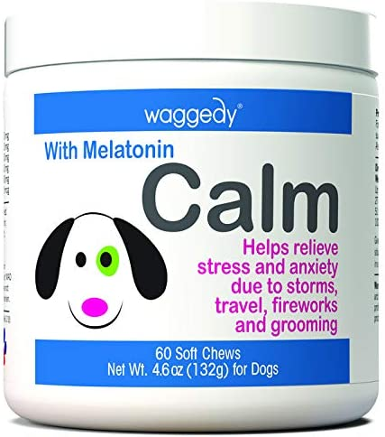 Waggedy Calm Stress & Anxiety Relief Melatonin Dog Supplement
